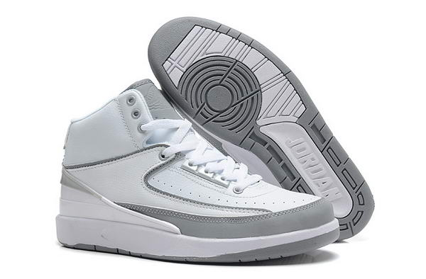Air Jordan 2 II Retro Shoes white/gray